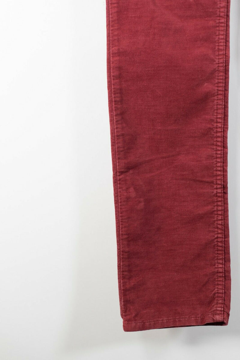 Etoile Isabel Marant Womens Size 36 Red Trousers 5 Pocket Corduroy Skinny Pants