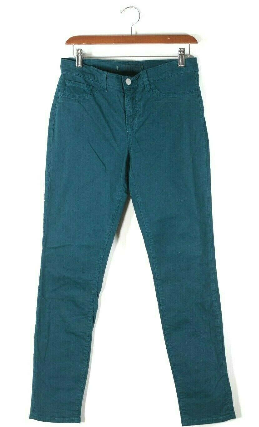 J Brand Womens Size 28 Medium Teal Green Denim Cotton Skinny Slim Jeans Pants