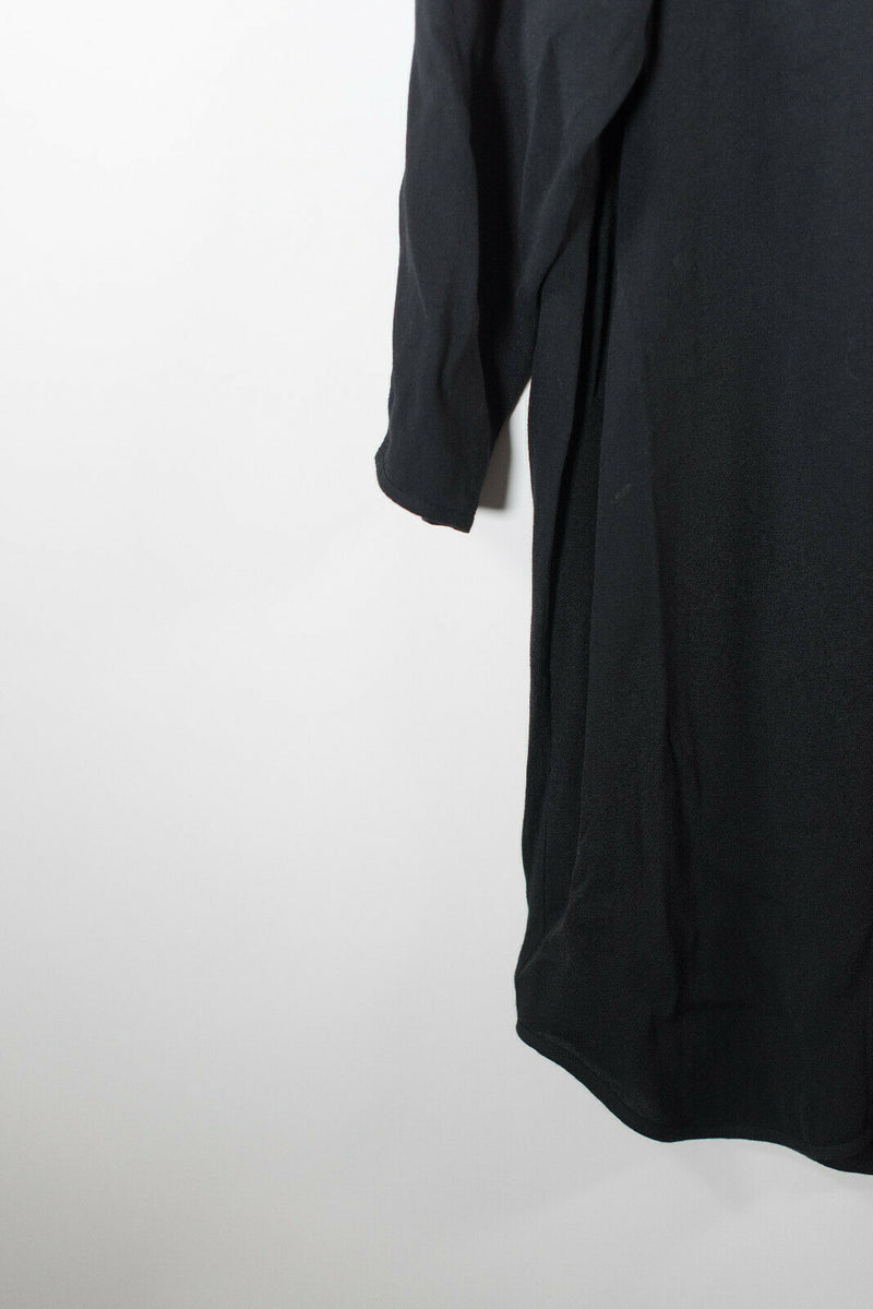 Wood Wood Small Black Crepe Midi Dress
