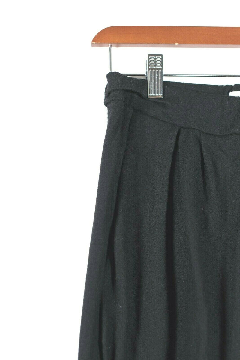 Helmut Lang Womens Size Petite Black Sweat Pants Stretchy Pleated Front Trousers