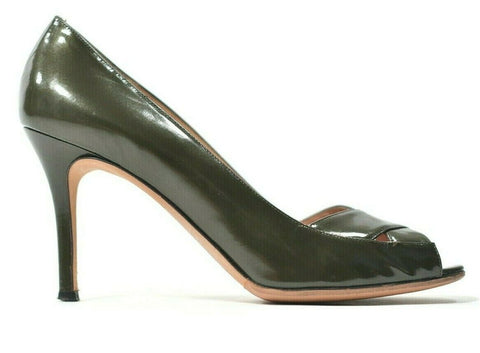 Helmut Lang Womens Size 8 Black Pumps Wrap Around Leather Open Toe Heel Sandal