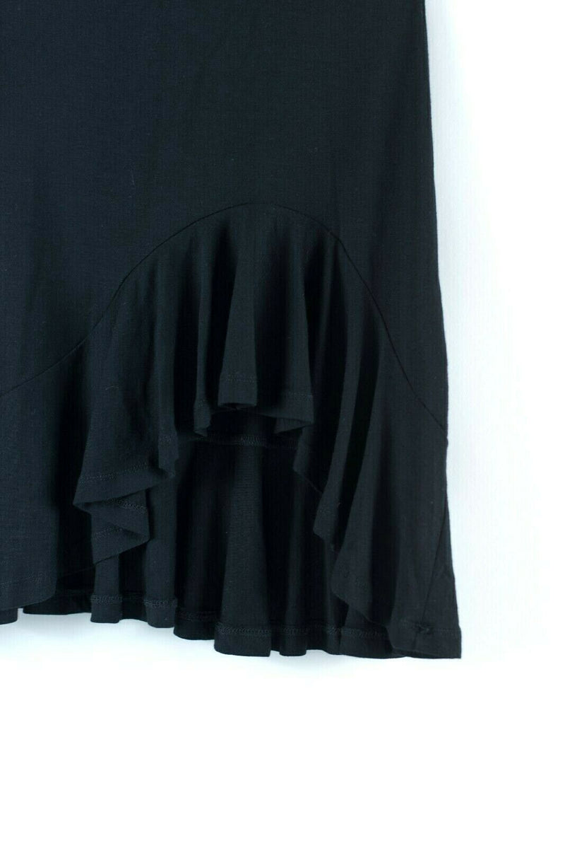 Asos Womens Size 0 XXS Black Skirt Mini Jersey Solid Flare Ruffle Swing NWT