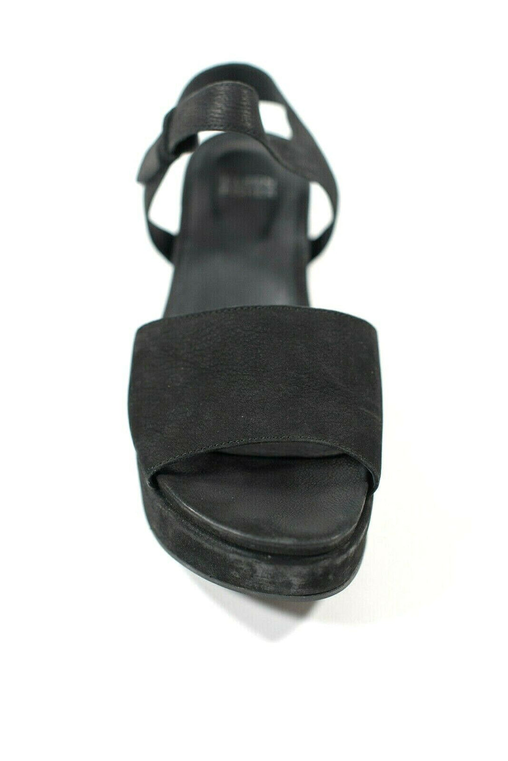 Eileen Fisher Womens Size 8.5 Black Sandals Jasper Ankle Strap Open Toe Platform