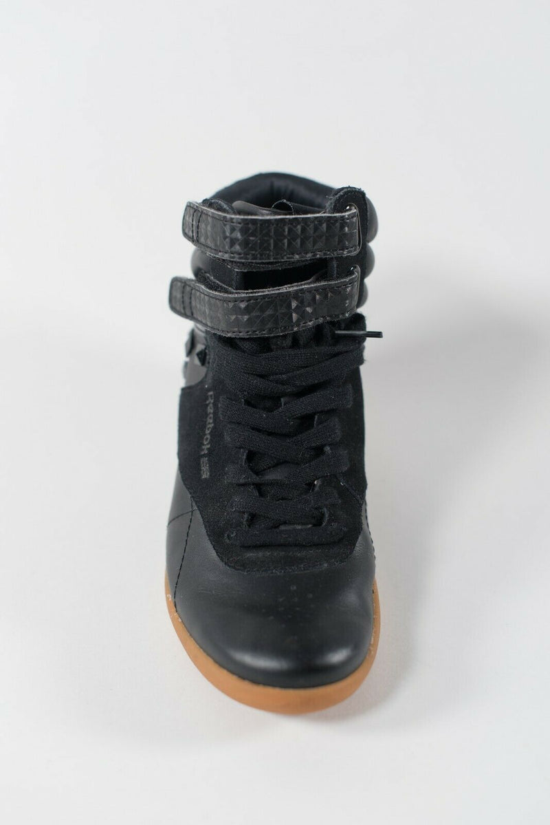 Reebok Women's Size 6.5 Black Sneakers Pyramid Studs Hidden Wedge Lace Up Shoes
