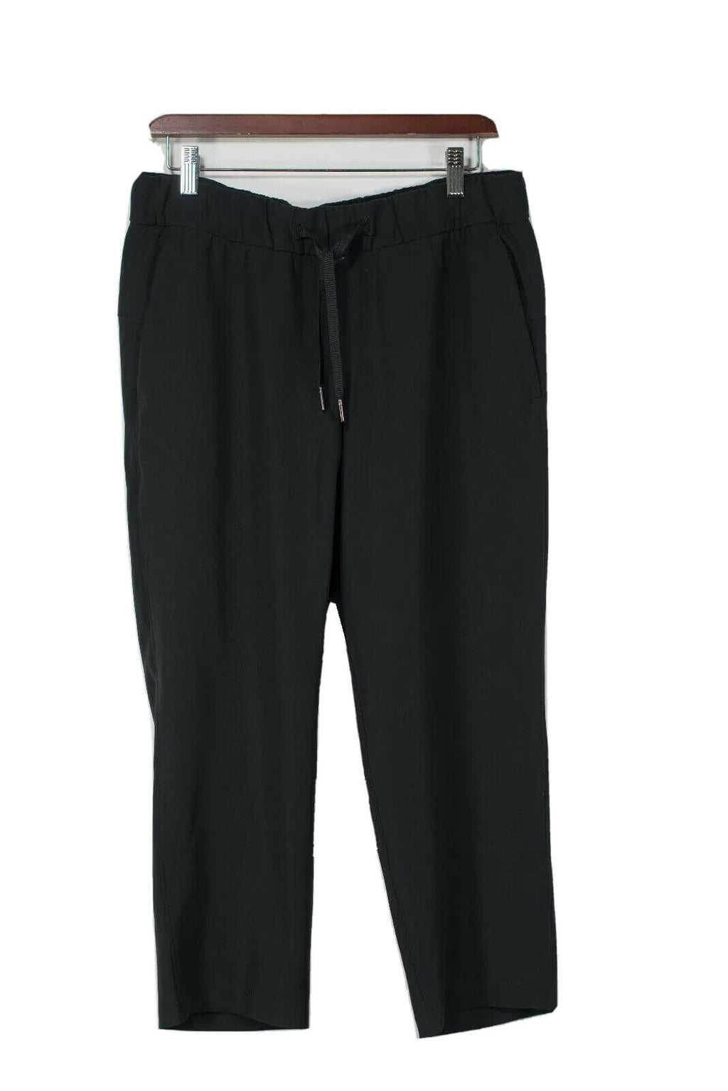Lululemon Womens Size 8 Black Drawstring Waist Cropped Pants