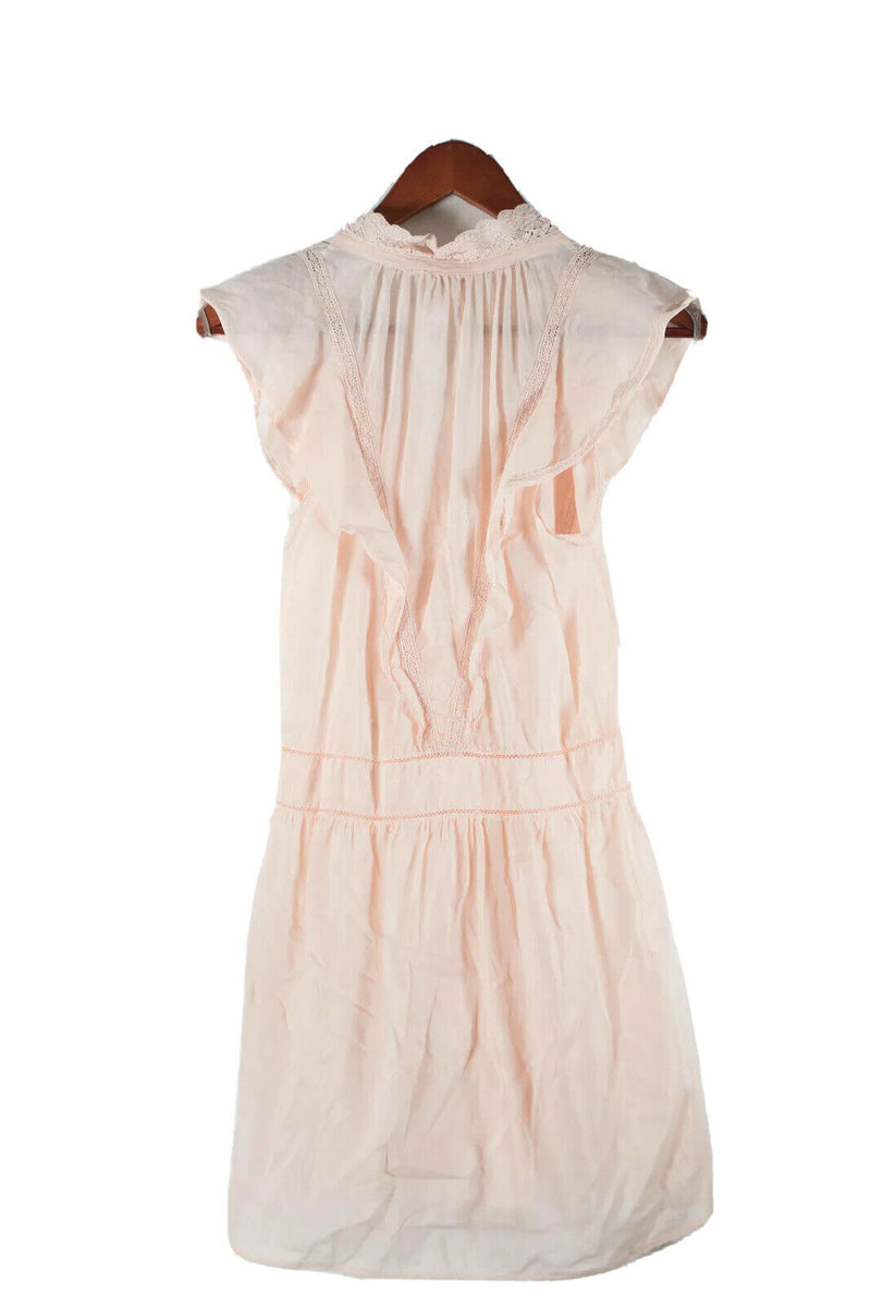Aritzia Wilfred Womens Size XXS Orange Dress Lace Trim