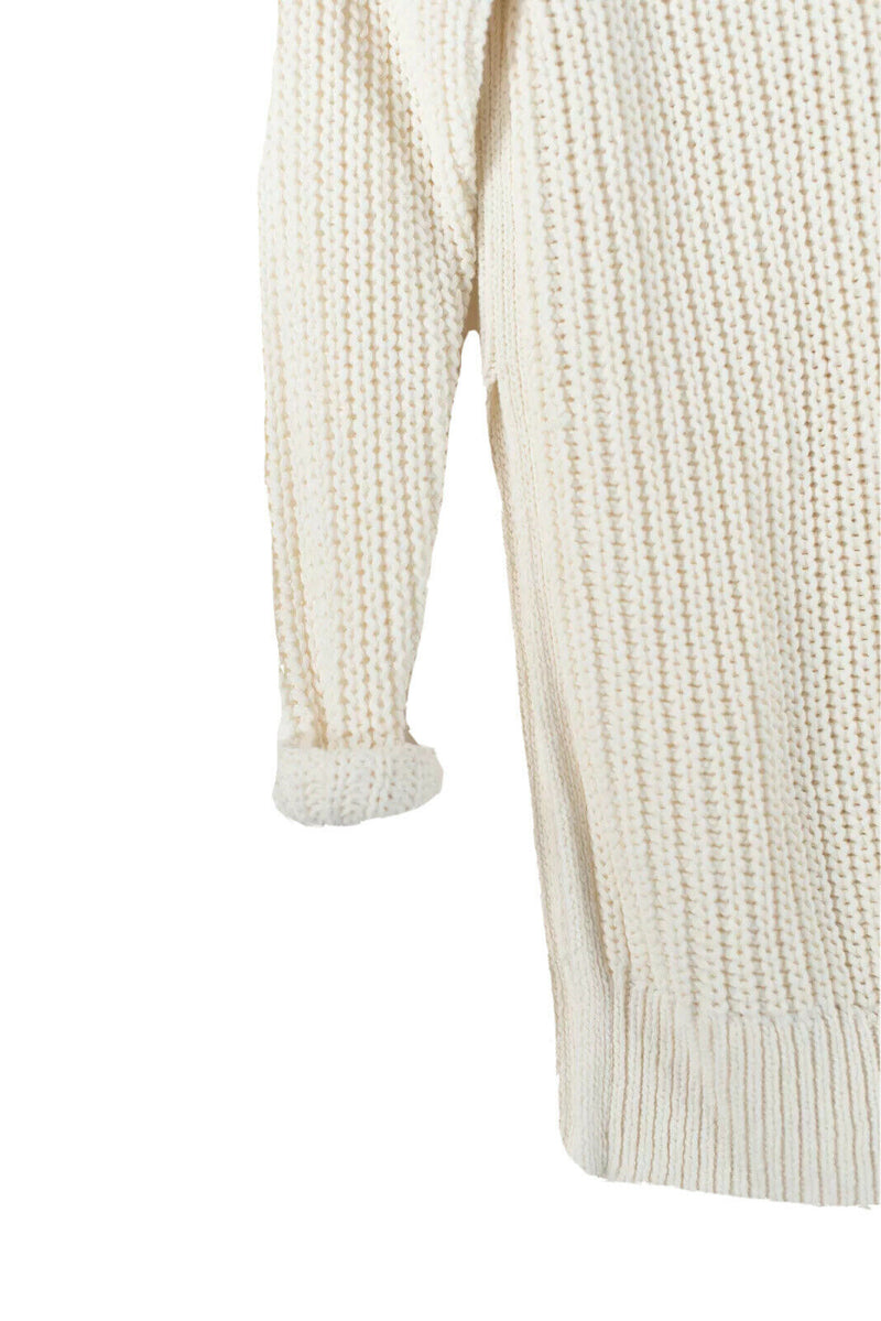 Aritzia Wilfred Womens XS Ivory Randonnai Sweater Oversized Linen Knit Pullover