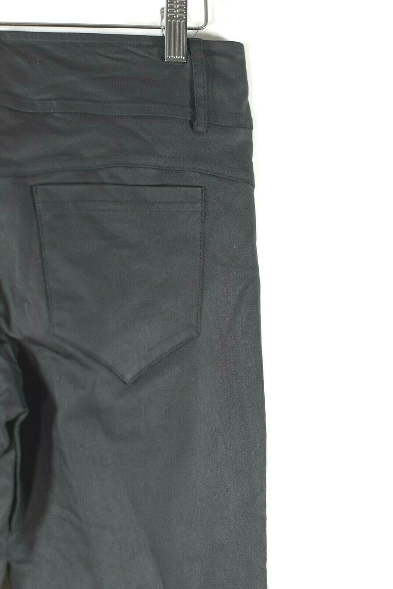 Brenda Beddome Womens Size 27 Black Ankle Pants Solid Stretch Pockets Skinny