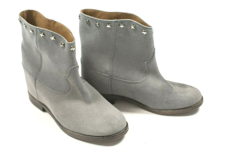 Catarina Martins Womens Size 6 Powder Blue Ankle Boots Suede Leather Booties