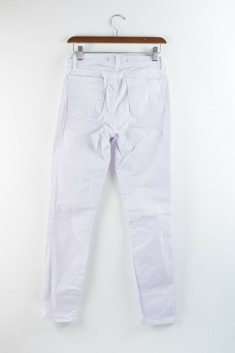 J Brand Womens Size 28 Purple Jeans Ankle Crop Mid Rise Stretch Soft Lilac Pants