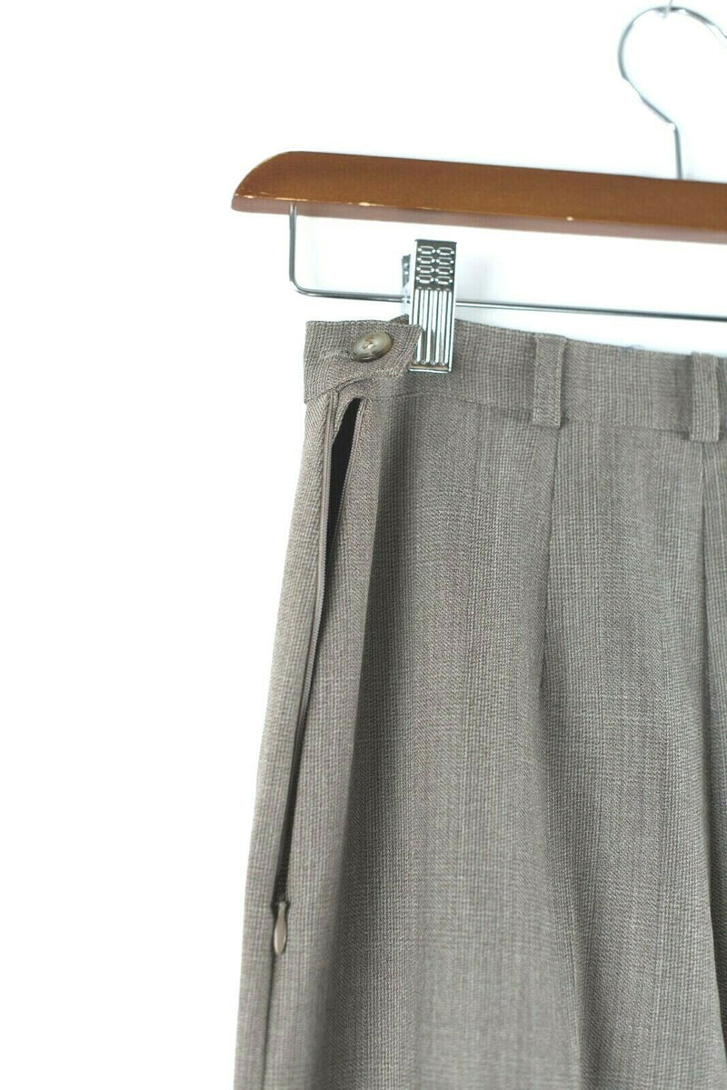 Max Mara Weekend Womens Size 2 Brown Pants High Waisted Plaid Trousers Vintage