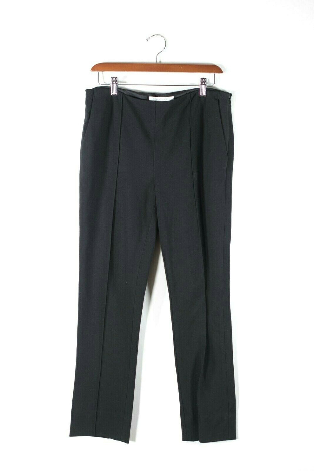 Diane von Furstenberg DVF Womens Size 8 Medium Black Pants Stretchy Trousers