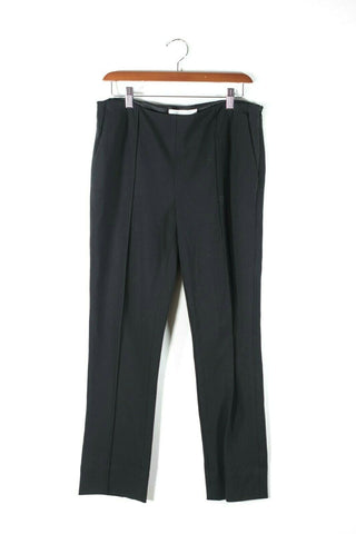 Vince Womens XXS Black Trousers Skinny Slim Crepe Satin Trim Tuxedo Pull On Pant
