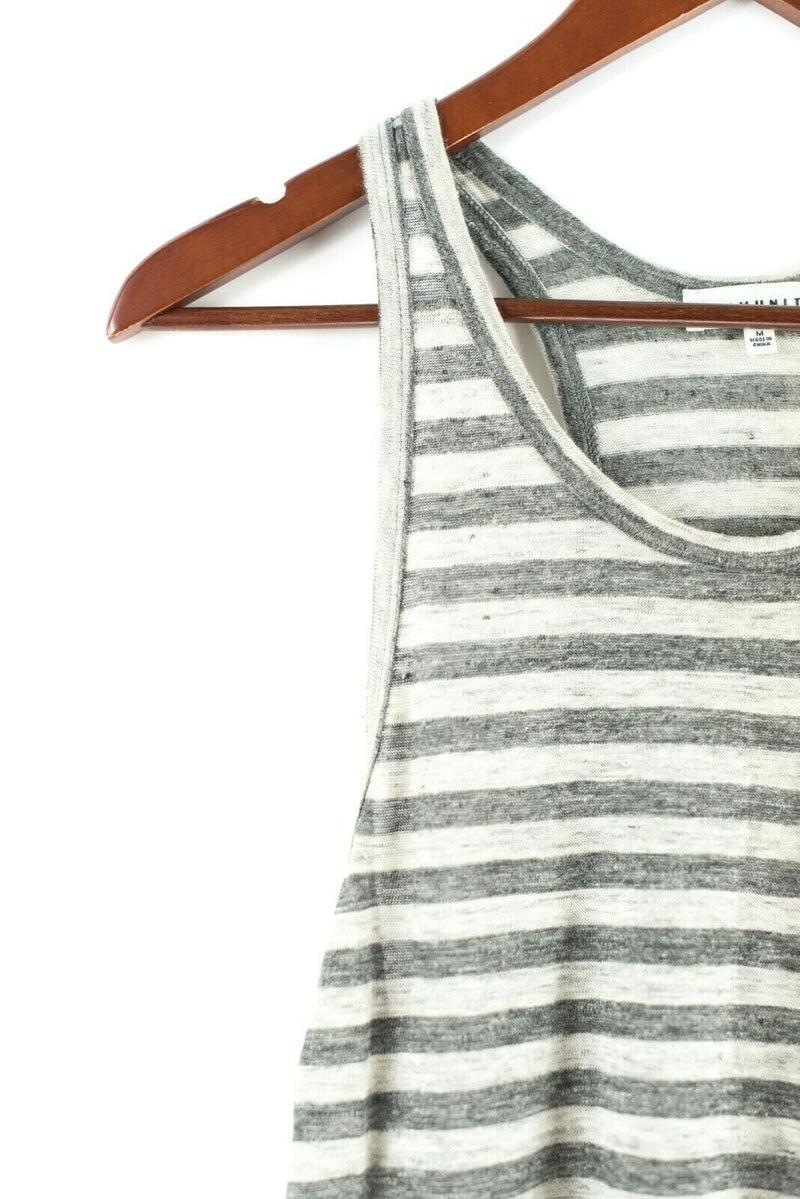 Aritzia Community Womens Size Medium Gray Tank Top Blouse Top Linen Racer Back