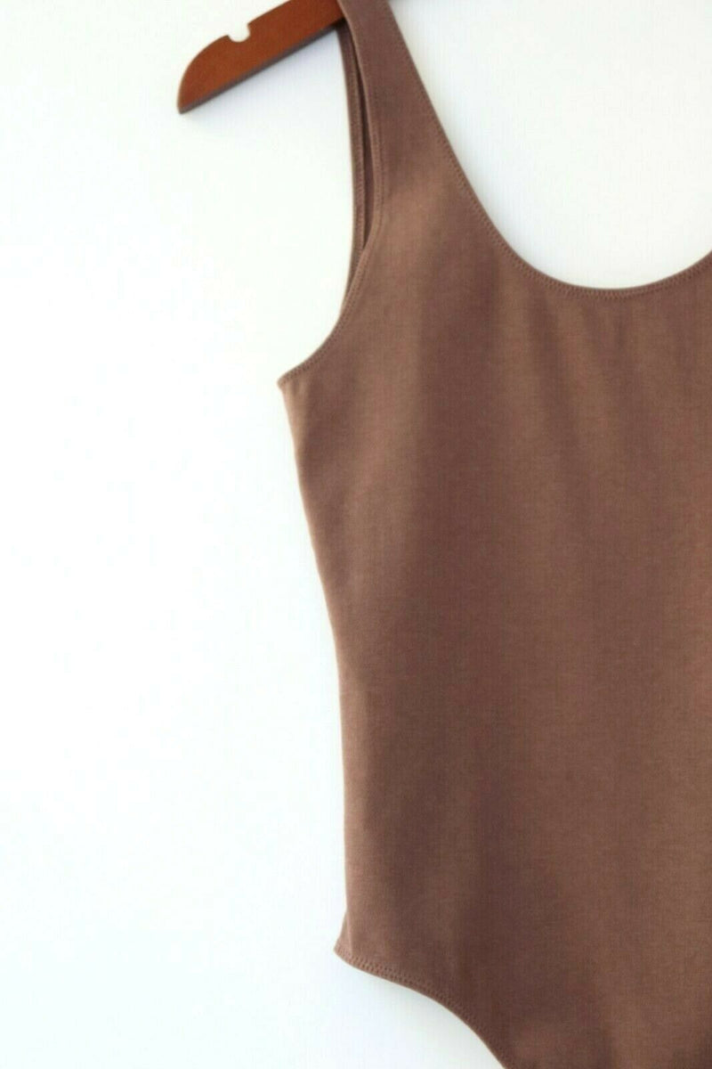 Aritzia Wilfred Free Womens Medium Beige Brown Bodysuit