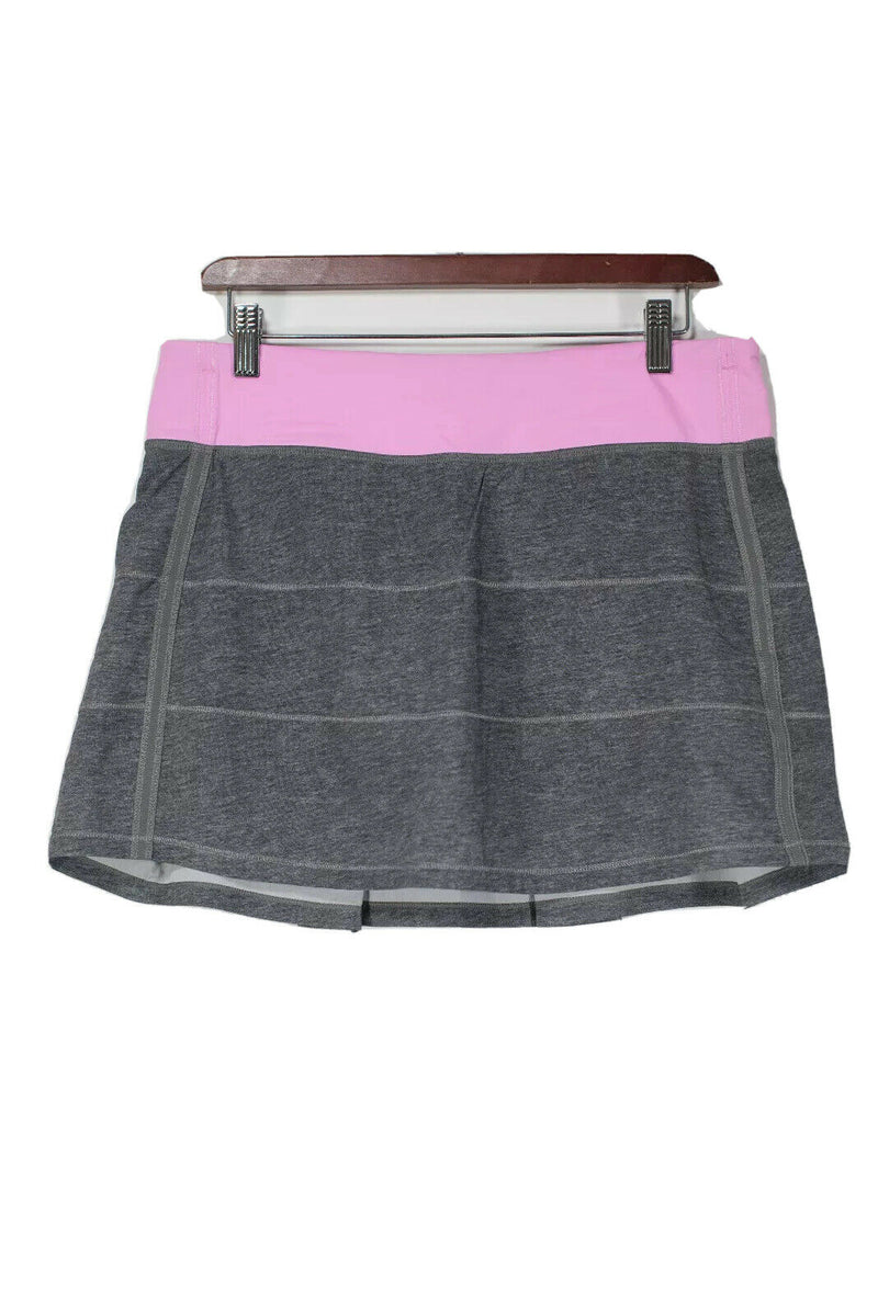 Lululemon Size 8 Grey Pink Tennis Skirt Skort