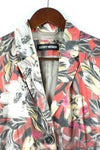 Gerry Webber Womens Size 8 Medium Brown Red Jacket Cotton Blazer Floral Graphic