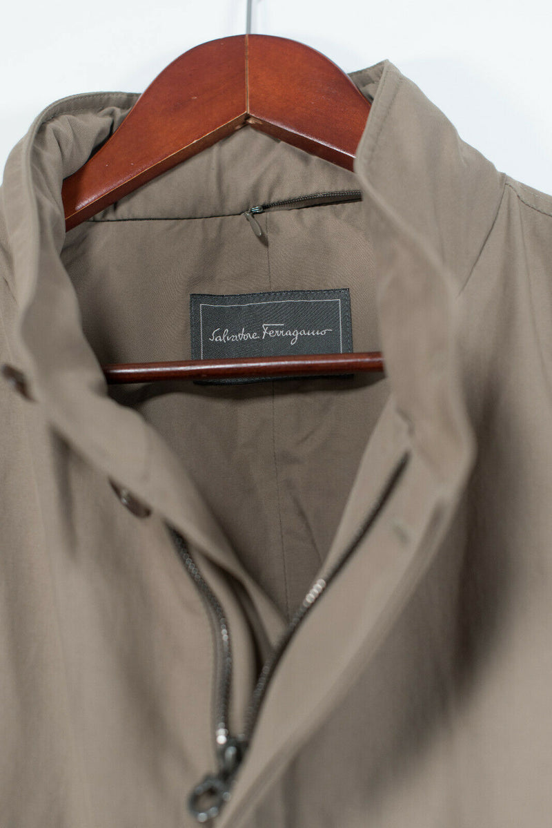 Salvatore Ferragamo Mens Size Medium Brown Coat