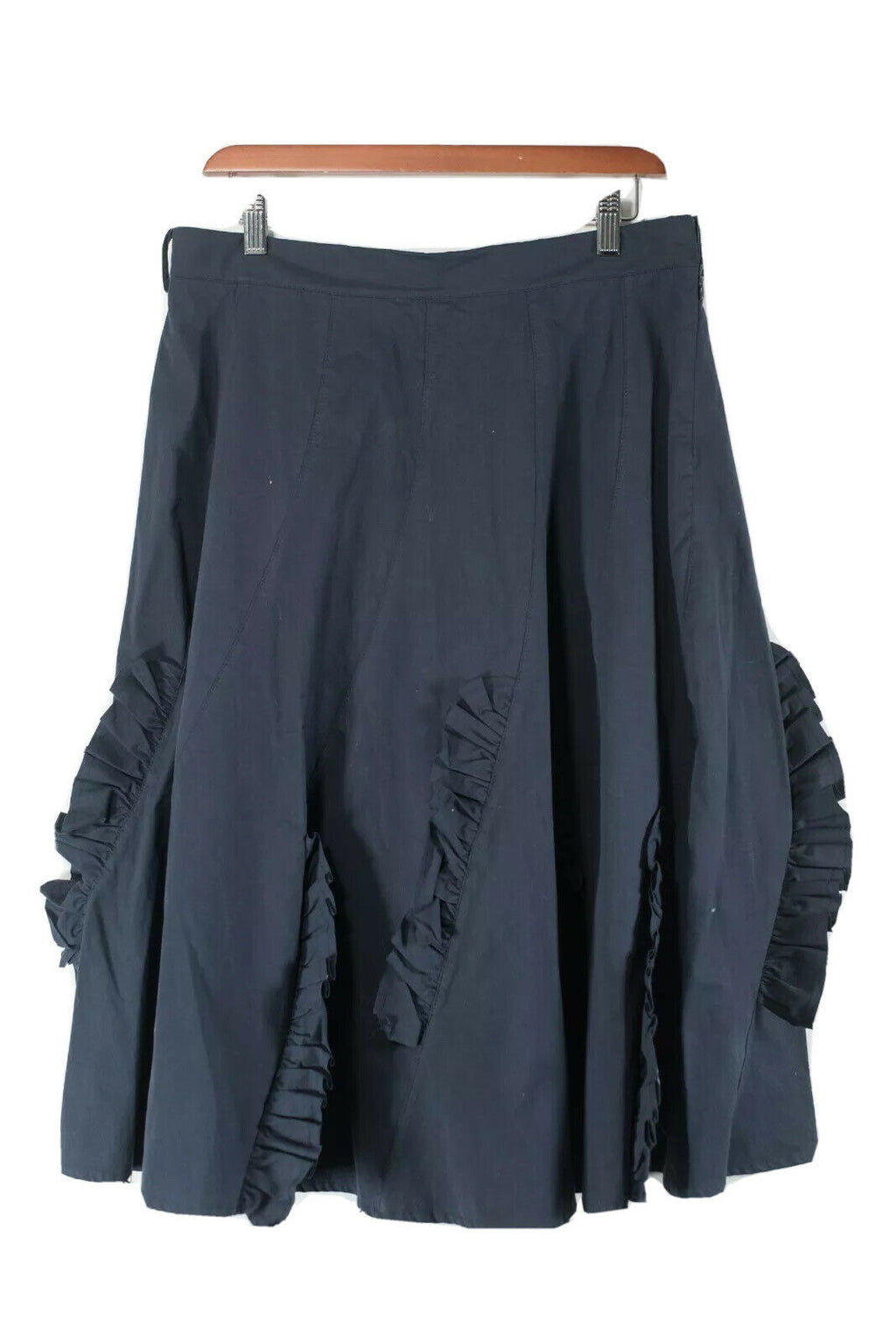 Background Womens Medium Navy Blue Skirt NWT