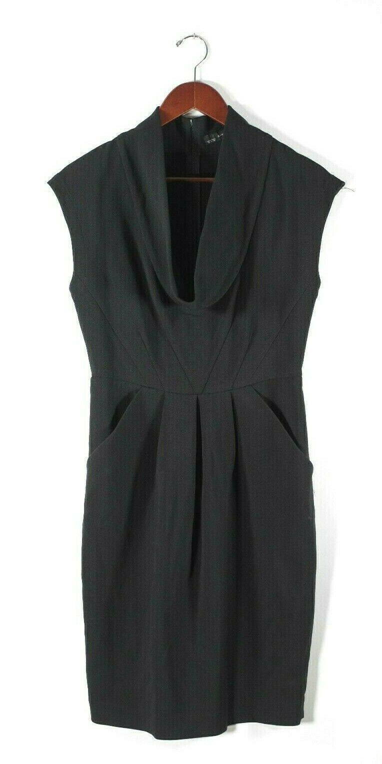 Zara Medium Black Cowl Neck Dress
