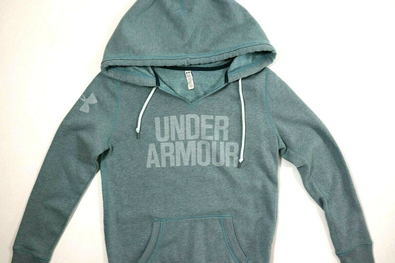 Under Armour Womens XS Extra Small Teal Pullover Hoodie