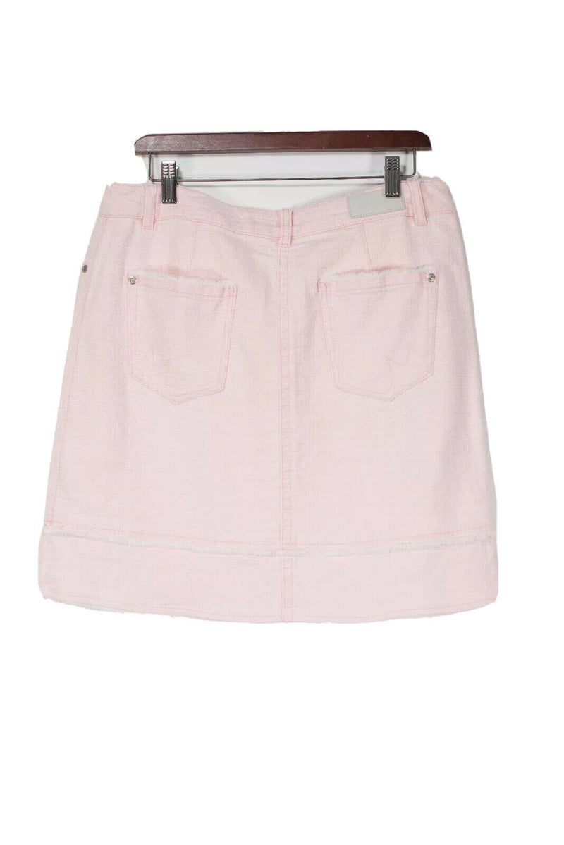 Marc Cain Size Small Light Pink Tweed Mini Skirt
