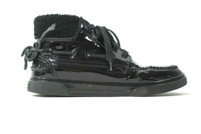 Saint Laurent Size 39 Black Joe Mid Top Boat Sneaker