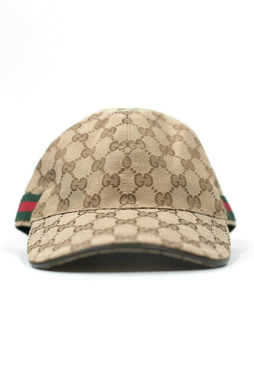 Gucci M Brown Hat Authentic Original GG Canvas Monogram Baseball Hat Web $485