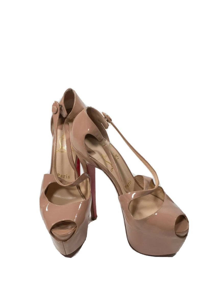 Christian Louboutin Size 37.5 Nude Exagona 160MM Pumps