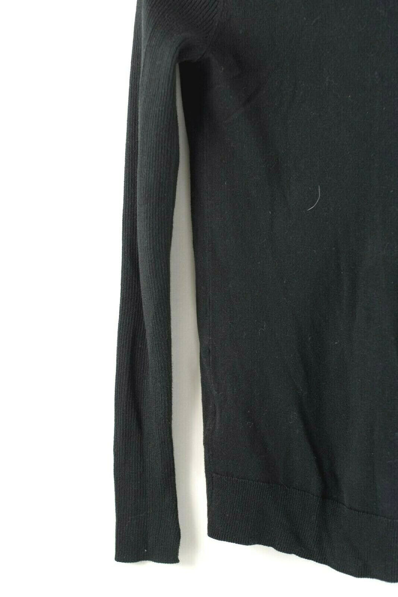 AllSaints Womens Size XS Black Sweater Cardigan Pullover Zipper Shoulder Top