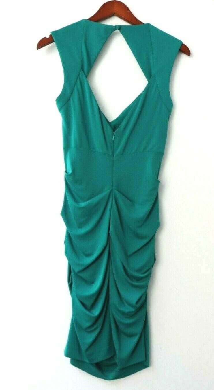 Nicole Miller Womens 10 Medium Emerald Green Bodycon Dress