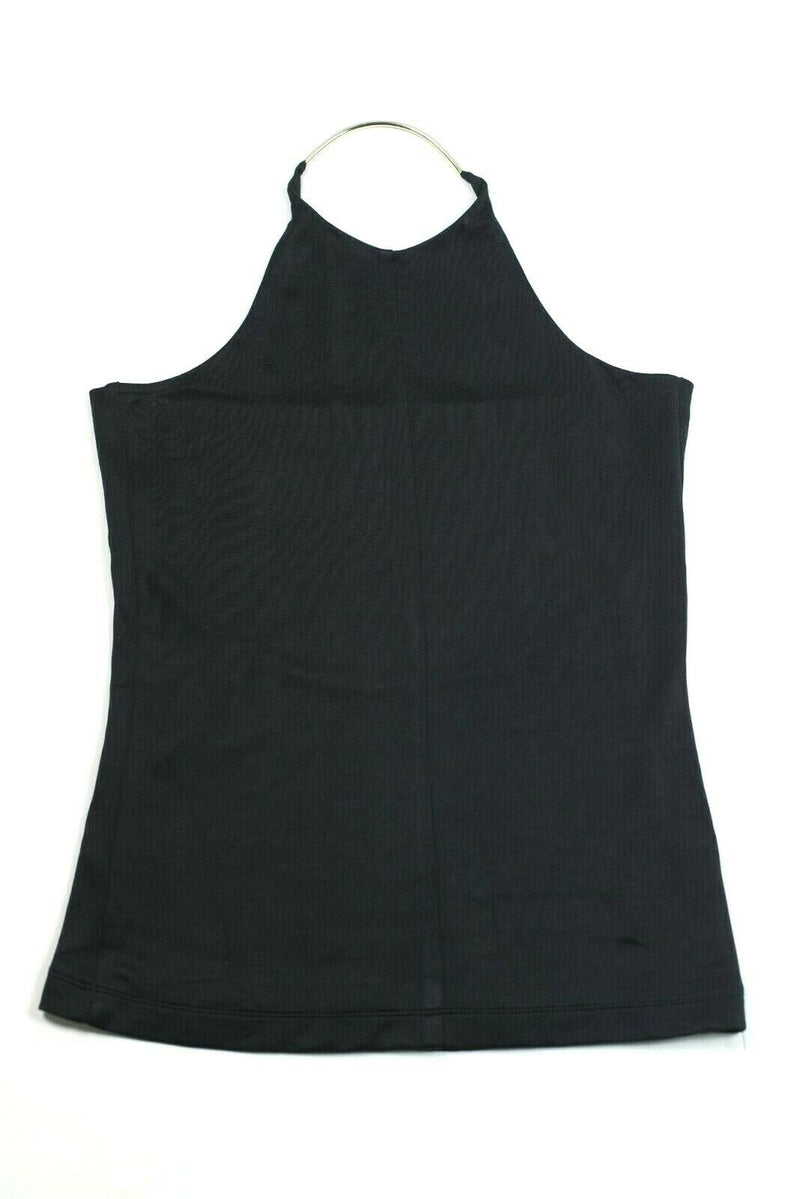 T by Alexander Wang Womens Small Black Shirt Pique Double Knit Halter Tank Cami