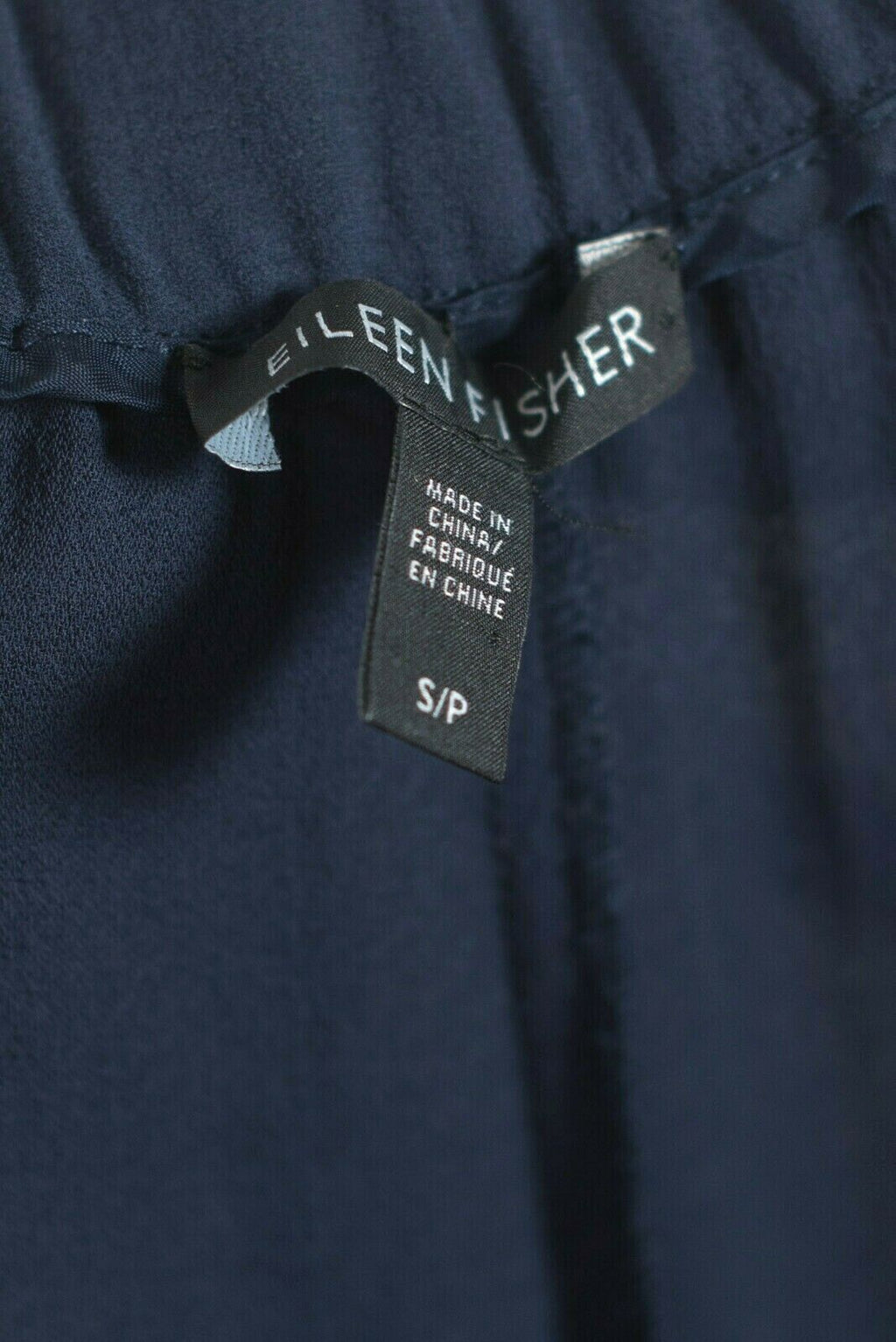 Eileen Fisher Size Small Navy Blue Silk Pants
