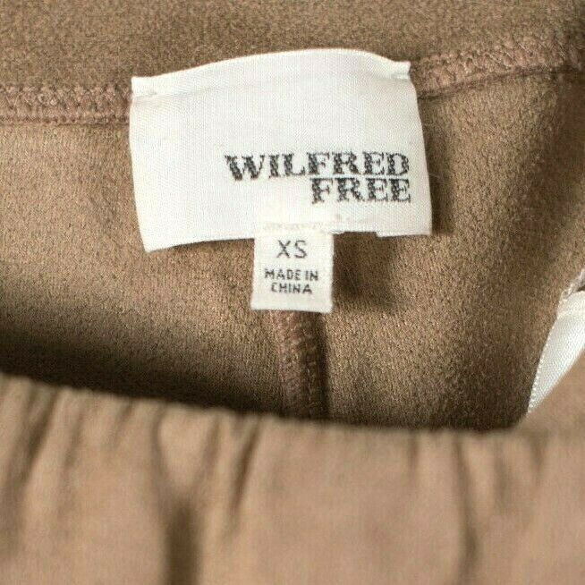 Wilfred Free Aritzia Womens XS Brown Pants Daria Faux Suede High Elastic Waist