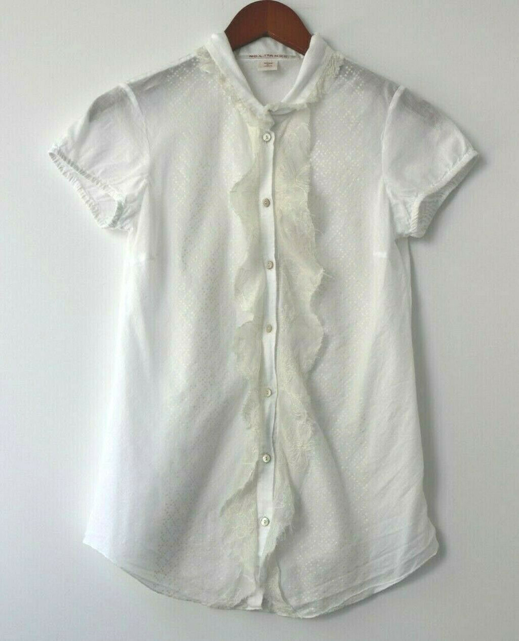 No.L.ITA Nolita NYC Womens XS Small White Blouse