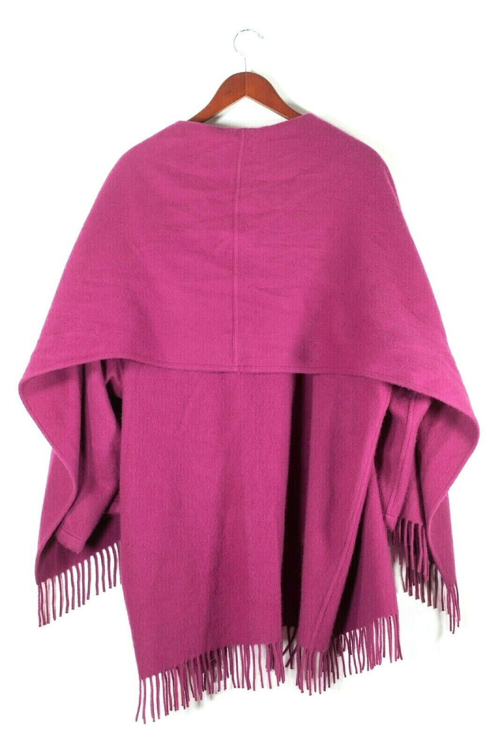 Salvatore Ferragamo Womens Small Pink Jacket Cashmere Cardigan Fringe Edge Coat