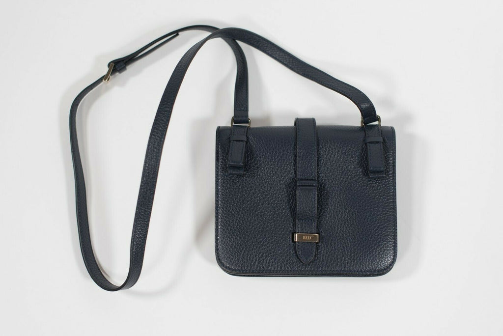 Red Valentino Womens Navy Blue Crossbody Leather Purse