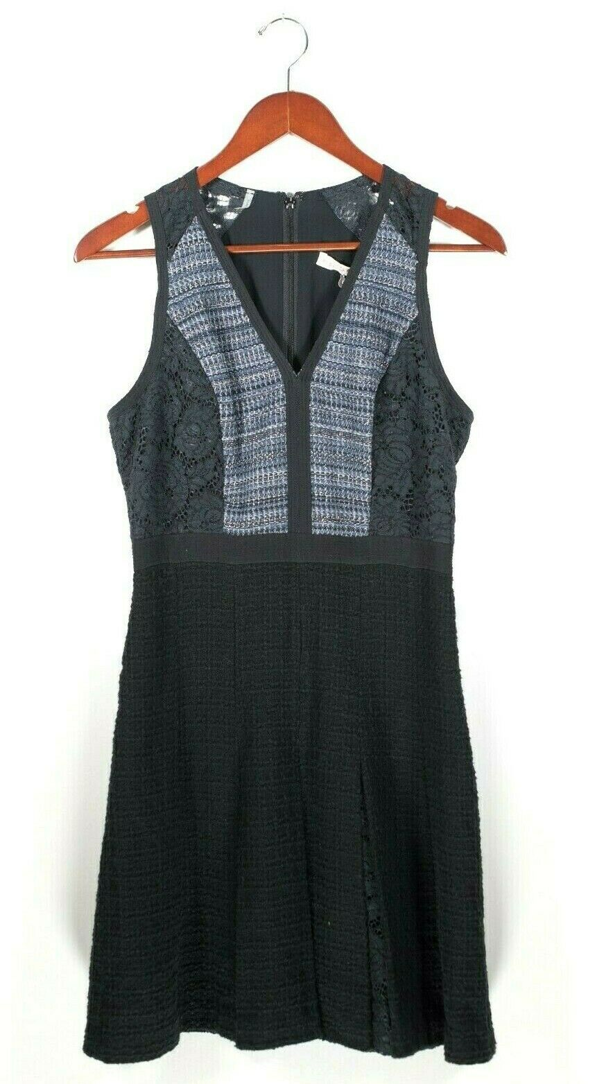 Rebecca Taylor Womens 6 Small Dress Blue Tweed NWT