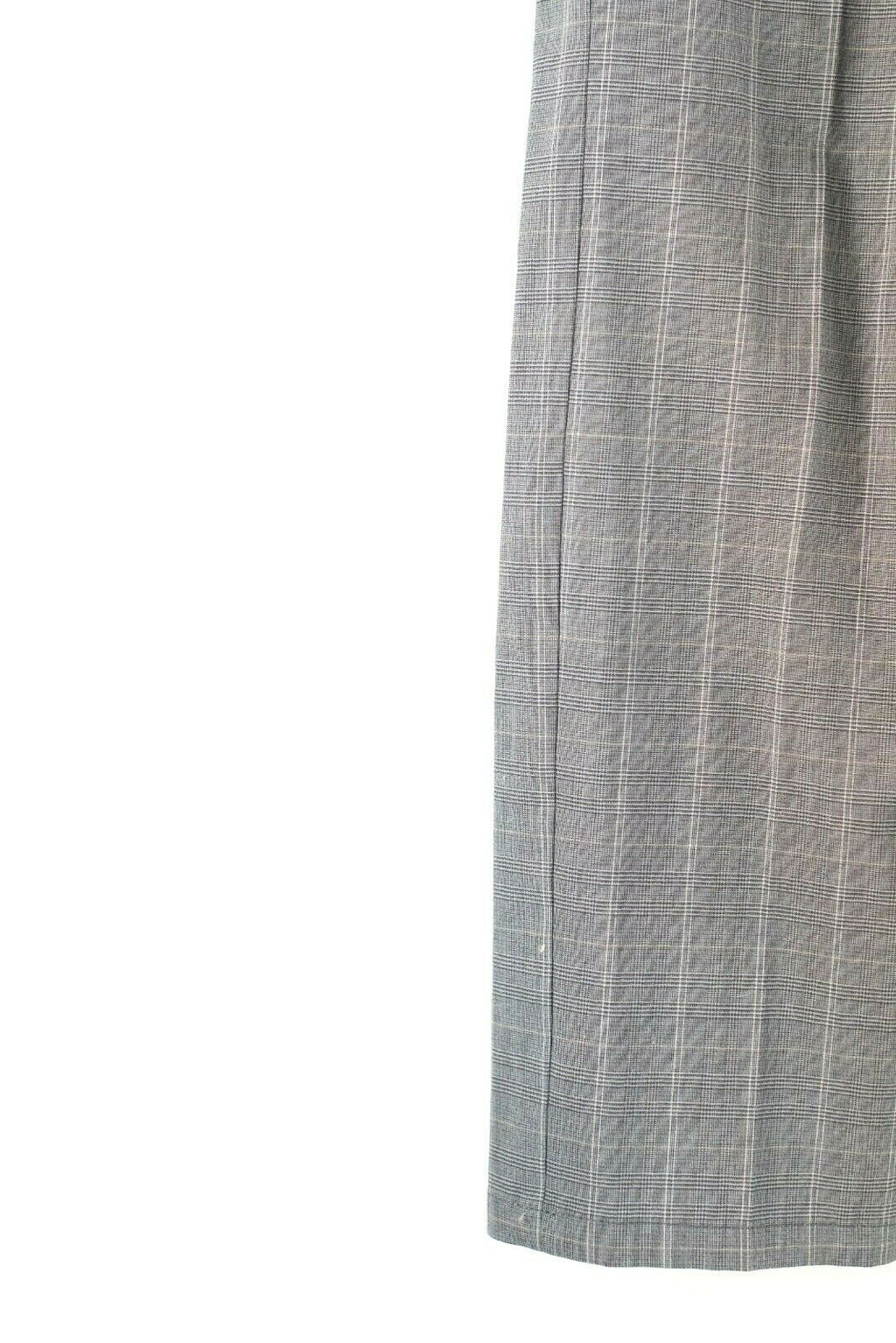 Sportmax Code Womens Size 6 Grey Trousers Pants Plaid Flat Front Straight Leg