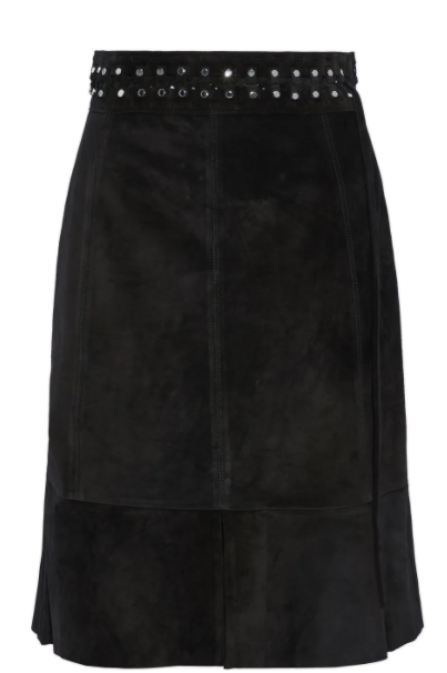 Proenza Schouler Size 4 Black Fluted Skirt