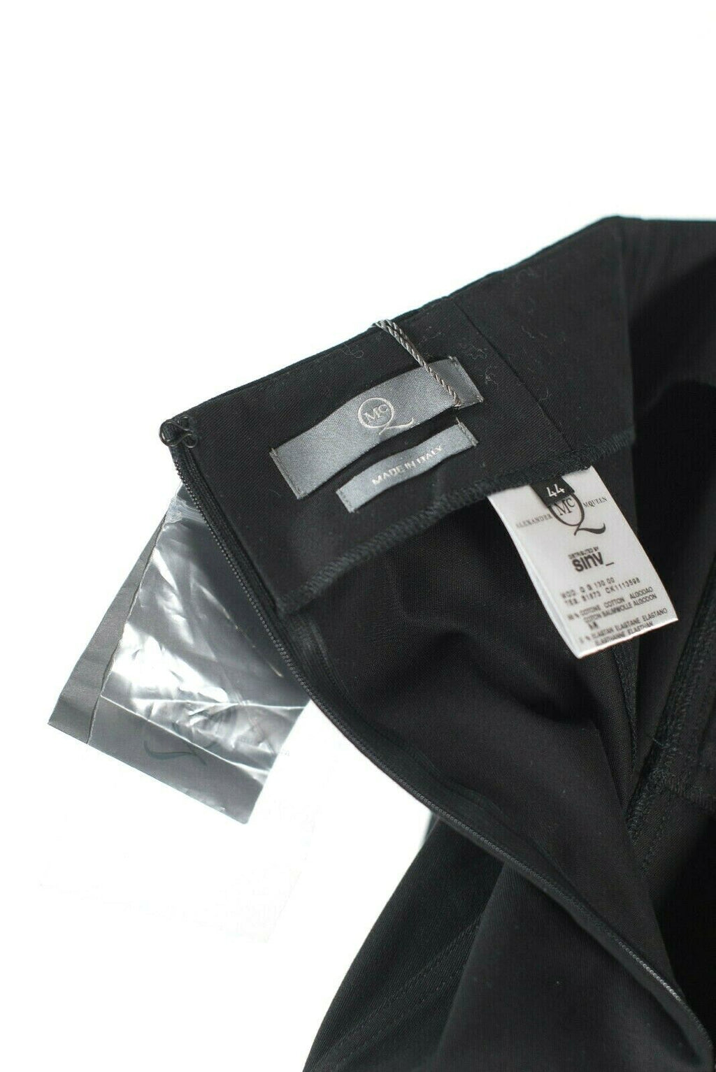 Alexander McQueen MCQ Womens 44 Medium Black Pencil Skirt Double Zip Cotton NWT