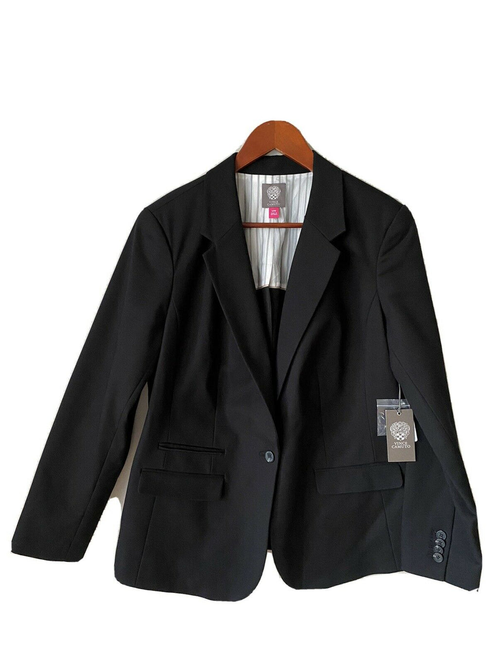 Vince Camuto Women's Plus Size 14W Black Jacket Blazer Stretch Lined Short NWT