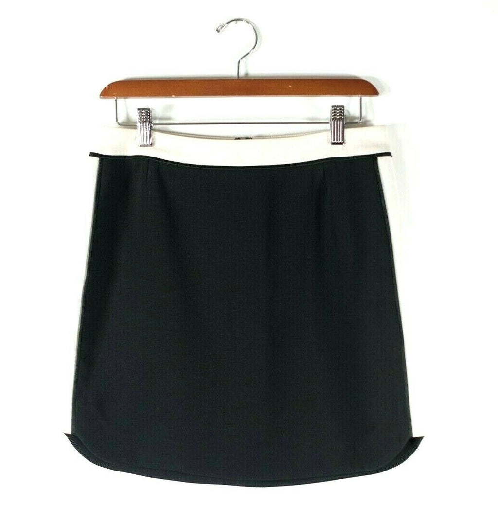 Aritzia Babaton Womens Size 2 XS Black Nude Skirt Tyler Crepe Lined Mini Skirt