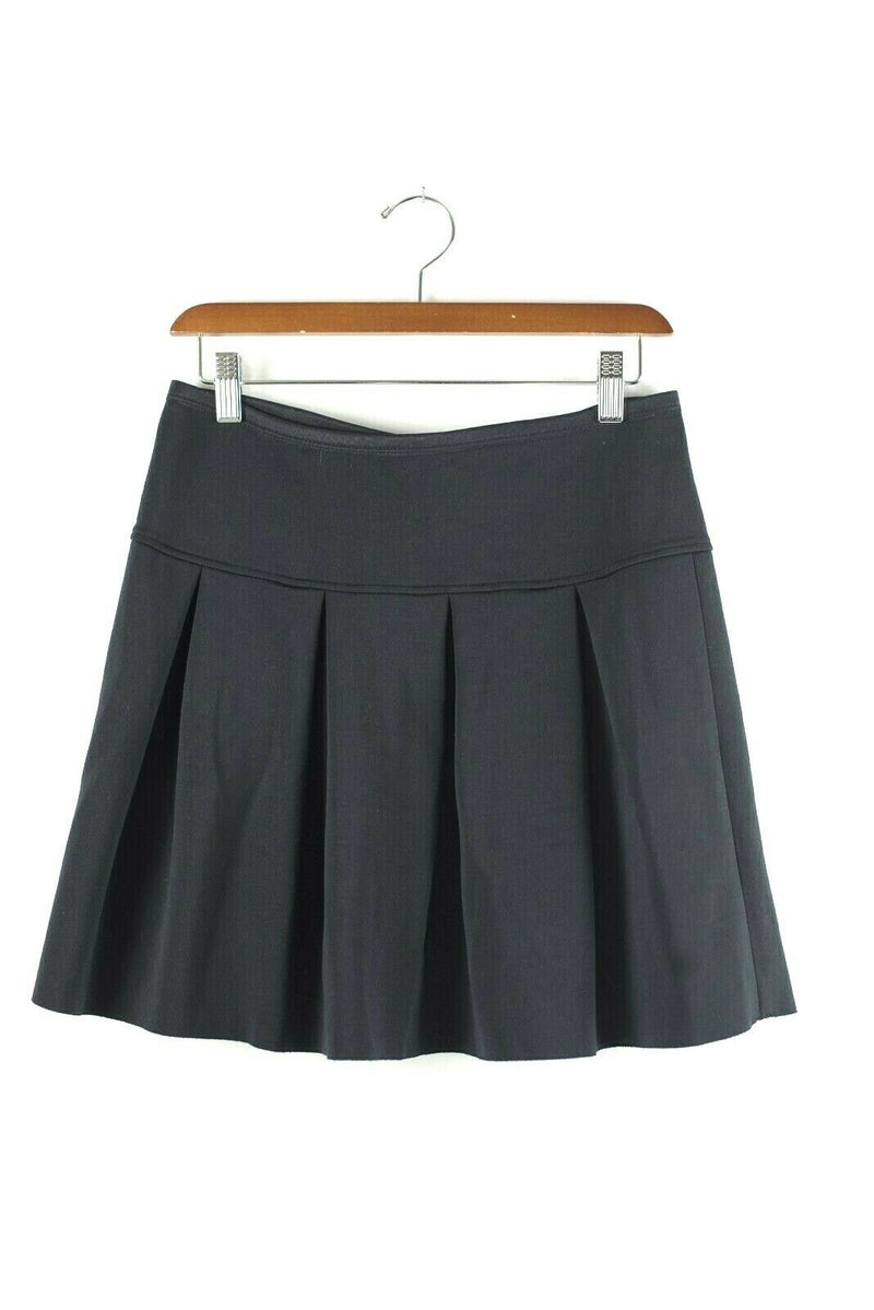 Wilfred Free Aritzia Womens Size Small Black Skirt Neoprene Pleated Zipper Skirt