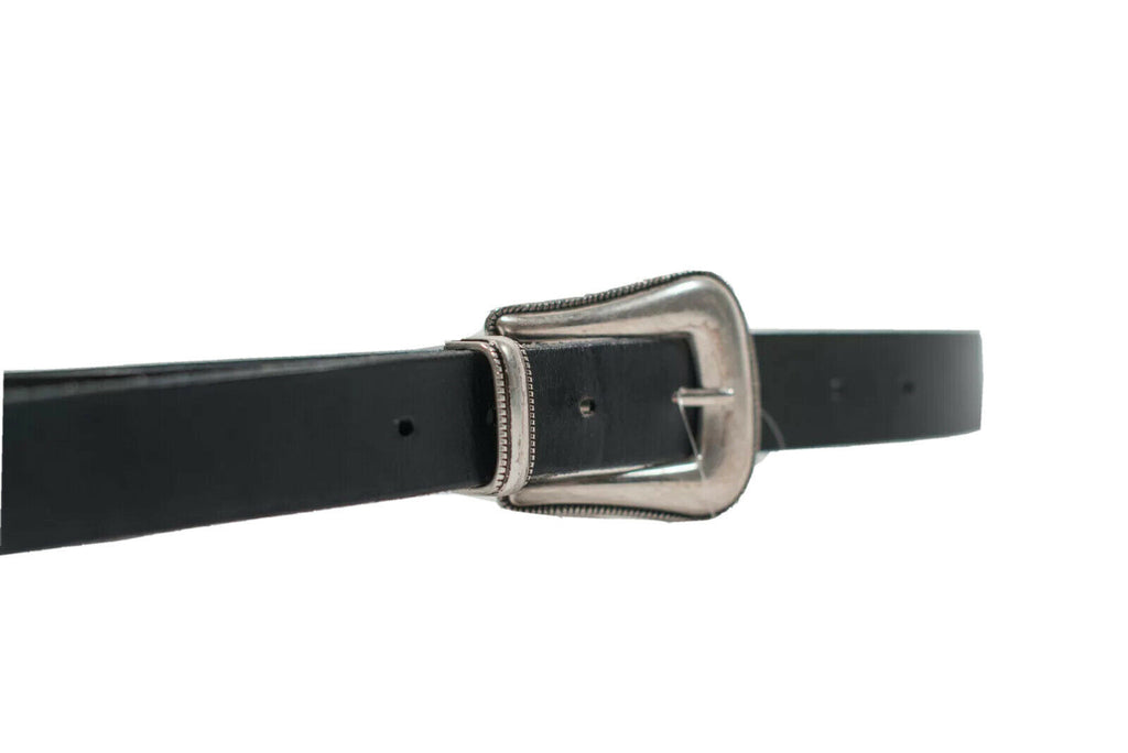 Aritzia Main Character Size Large Black Skinny Leather Western Belt