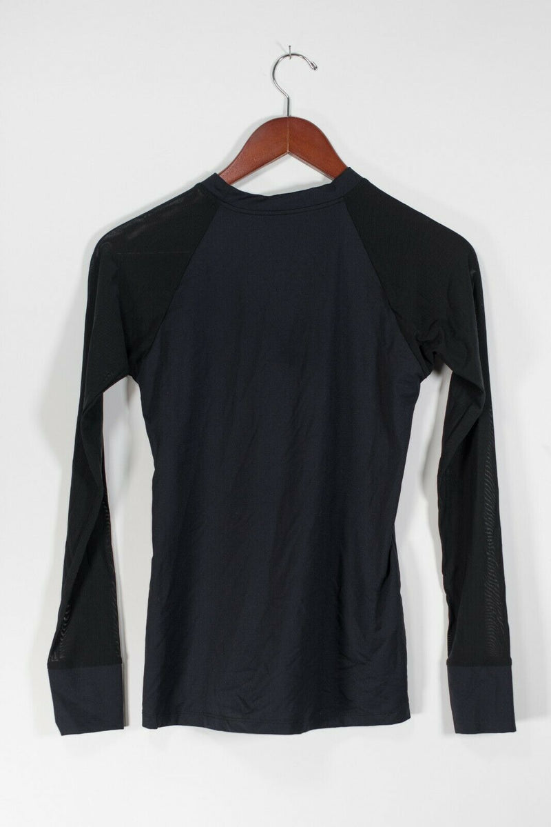 Varley Women's Size Medium Black Gold Shirt Active Wear Long Sleeve Pullover Top