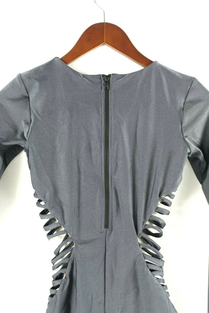 Rue Stiic Free People Womens Small Charcoal Grey Strappy Dreamland Surf Suit NWT