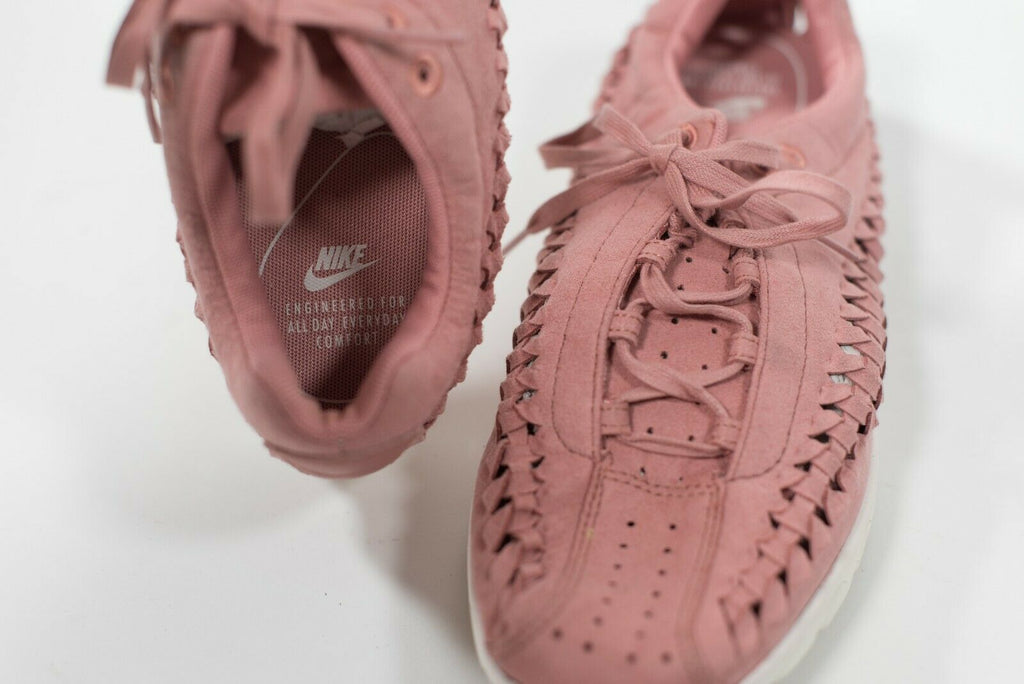 Nike Women's Size 11 Pink Sneakers Dualtone Racer Woven Trainer Running Shoes