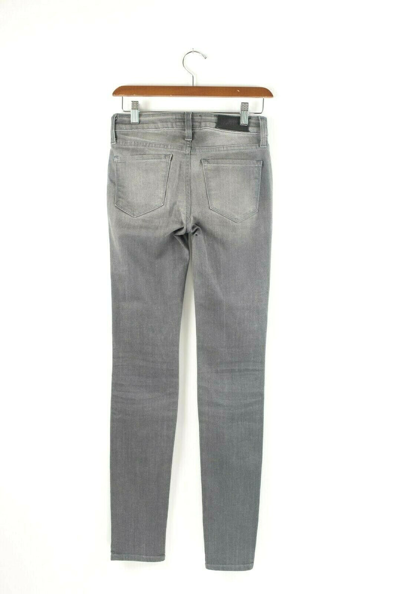 Aritzia The Castings Womens 25 XXS Heather Grey Jeans Cropped Skinny Faded Denim