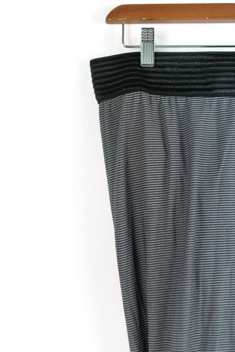 T by Alexander Wang Womens Olive Green Black Skirt Ruched Twist Striped Mini
